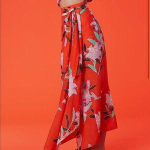 e8dc343ab6 Diane Von Furstenberg Skirts - Diane Von Furstenberg Draped Wrap Beach Skirt